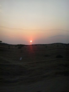 sunrise on the way to dodoma